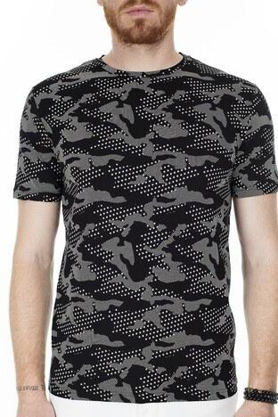 John Frank Erkek T Shirt JFTMC12-CAMO STAR ÇOK RENKLİ