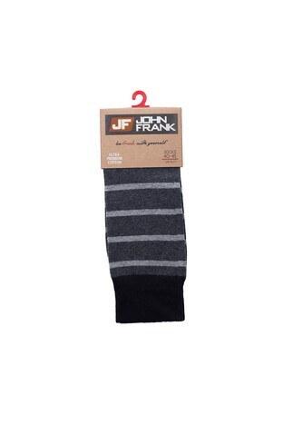 John Frank - John Frank Erkek Çorap CTNJFLSCA0202 KOYU GRİ