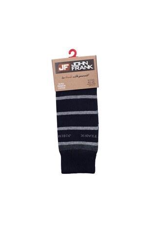 John Frank Erkek Çorap CTNJFLSEF0201 LACIVERT-GRI