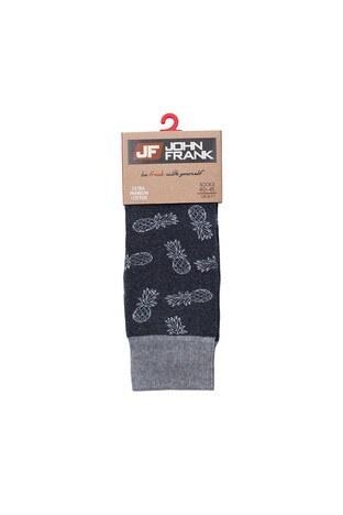 John Frank - John Frank Erkek Çorap CTNJFLSEF0202 KOYU GRİ