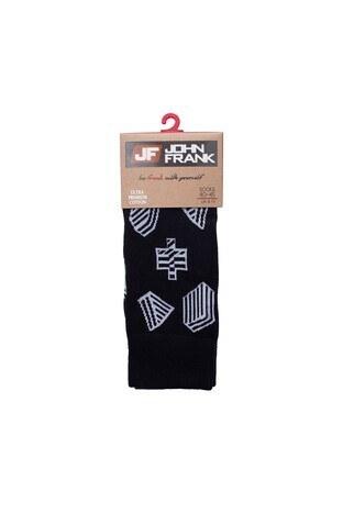 John Frank - John Frank Erkek Çorap CTNJFLSMC0302 SİYAH