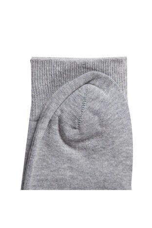 Buratti % 100 Pamuklu Düğmeli Polo Sweat Erkek Çorap JFLS18W01 GRİ