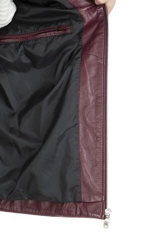 Karaca Hakiki Erkek Deri Ceket KRCD803 BORDO