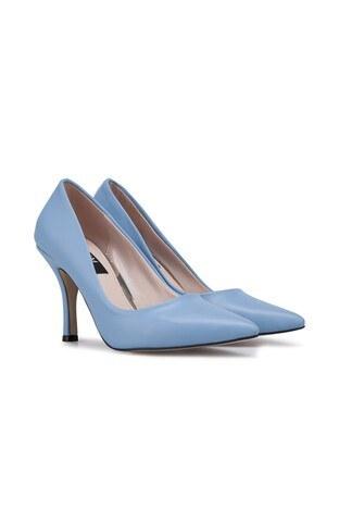 Kuum Topuklu Bayan Ayakkabı K329806 BEBE MAVİ