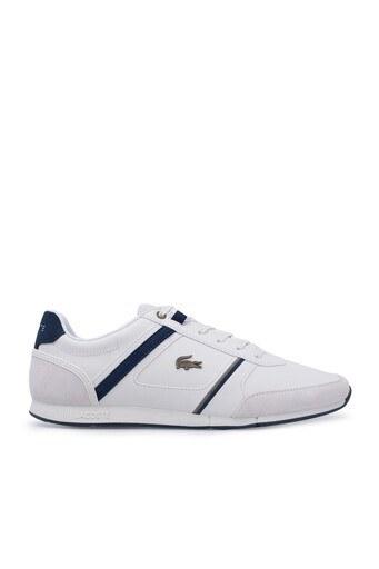 Lacoste Menerva Erkek Ayakkabı 739CMA0007 WN1 Kırık Beyaz-Lacivert