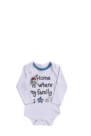 Le Ville % 100 Pamuk Yumuşak Erkek Bebek 3 Lü Bebek Takım 57415011 BEYAZ-MAVİ