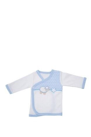 Le Ville % 100 Pamuk Yumuşak Erkek Bebek 5 Li Hastane Çıkışı CC525 E MAVİ
