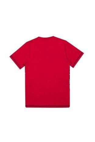 Le Ville Baskılı Bisiklet Yaka Erkek Çocuk T Shirt 57762231 KIRMIZI