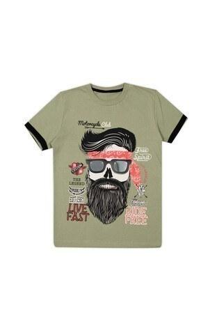 Le Ville Baskılı Bisiklet Yaka Erkek Çocuk T Shirt 57762291 HAKİ