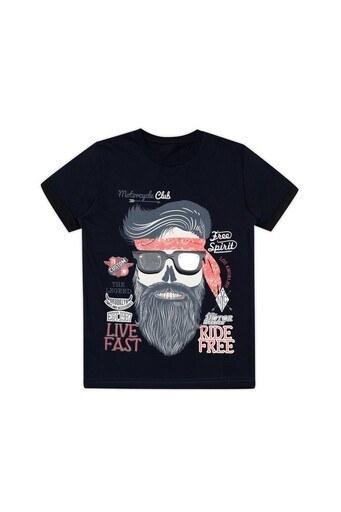 Le Ville Baskılı Bisiklet Yaka Erkek Çocuk T Shirt 57762291 SİYAH