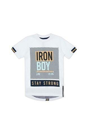 Le Ville Baskılı Bisiklet Yaka Erkek Çocuk T Shirt 57762400 BEYAZ