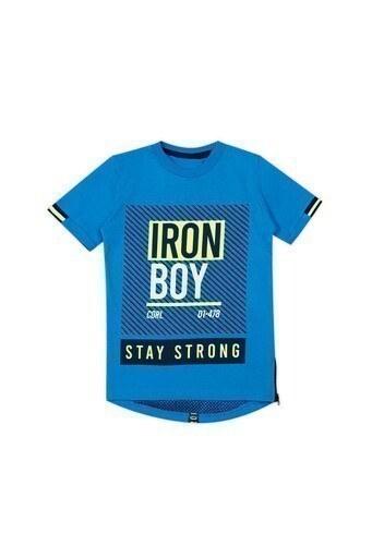 Le Ville Baskılı Bisiklet Yaka Erkek Çocuk T Shirt 57762400 MAVİ