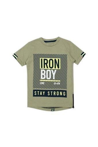 Le Ville Baskılı Bisiklet Yaka Erkek Çocuk T Shirt 57762401 HAKİ