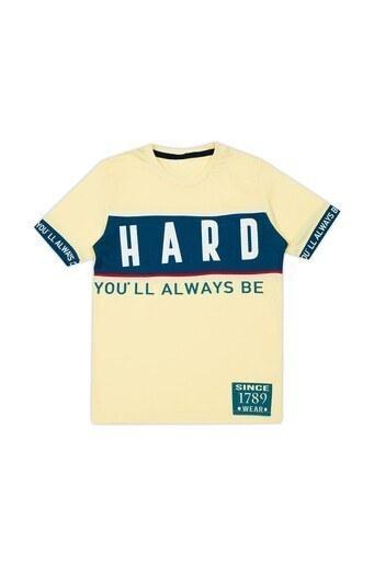 Le Ville Baskılı Bisiklet Yaka Erkek Çocuk T Shirt 57762571 SARI