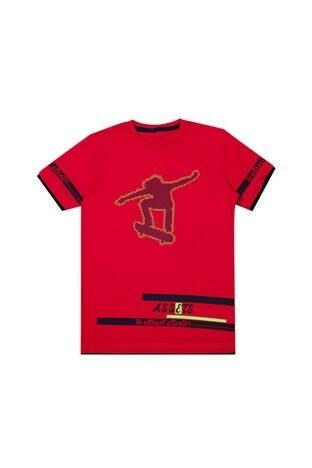 Le Ville Baskılı Bisiklet Yaka Erkek Çocuk T Shirt 57762611 KIRMIZI