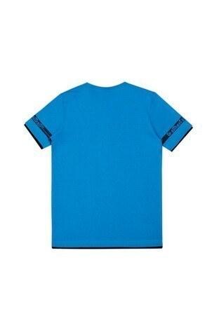 Le Ville Baskılı Bisiklet Yaka Erkek Çocuk T Shirt 57762611 MAVİ