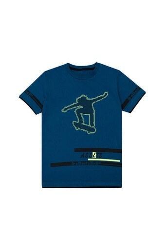 Le Ville Baskılı Bisiklet Yaka Erkek Çocuk T Shirt 57762611 PETROL