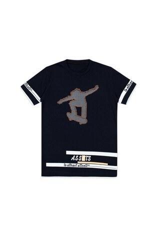 Le Ville Baskılı Bisiklet Yaka Erkek Çocuk T Shirt 57762611 SİYAH