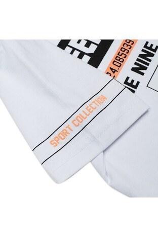 Le Ville Baskılı Bisiklet Yaka Erkek Çocuk T Shirt 57763081 BEYAZ