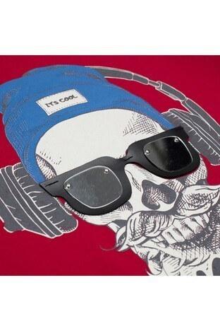 Le Ville Baskılı Bisiklet Yaka Erkek Çocuk T Shirt 57763501 KIRMIZI