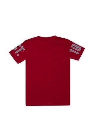 Le Ville Baskılı Bisiklet Yaka Pamuklu Erkek Çocuk T Shirt 57763371 KIRMIZI
