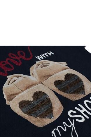 Le Ville Baskılı Sırt Detaylı Kız Çocuk T Shirt SUP07765