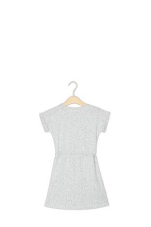 Le Ville Belden Büzgülü Kız Çocuk Elbise SUP07337 GRİ