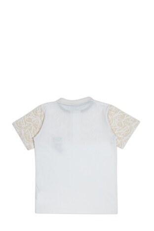 Le Ville Düğmeli Polo Yaka % 100 Pamuklu Erkek Çocuk T Shirt SUP07873 BEYAZ