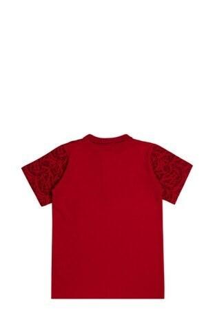 Le Ville Düğmeli Polo Yaka % 100 Pamuklu Erkek Çocuk T Shirt SUP07873 KIRMIZI
