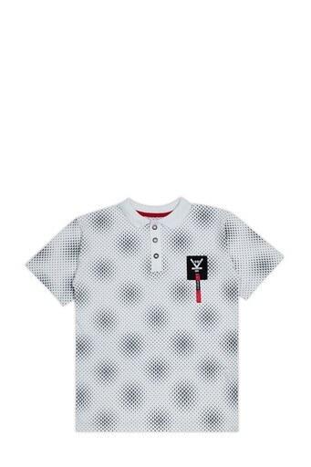 Le Ville Düğmeli Polo Yaka % 100 Pamuklu Erkek Çocuk T Shirt SUP07894 BEYAZ