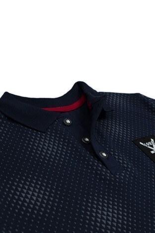Le Ville Düğmeli Polo Yaka % 100 Pamuklu Erkek Çocuk T Shirt SUP07894 LACİVERT