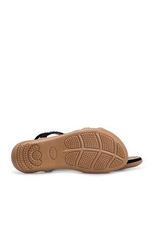 Le Ville Taş Detaylı Kız Çocuk Sandalet 38920Y1538 SİYAH