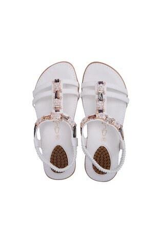 Le Ville Taş Detaylı Kız Çocuk Sandalet 38920Y2359 BEYAZ