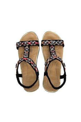 Le Ville Taş Detaylı Kız Çocuk Sandalet 38920Y2364 SİYAH