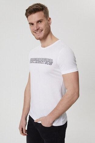 Lee Cooper Erkek T Shirt 212 LCM 242027 1101 BEYAZ