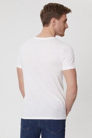Lee Cooper Erkek T Shirt 212 LCM 242033 1108 KIRIK BEYAZ
