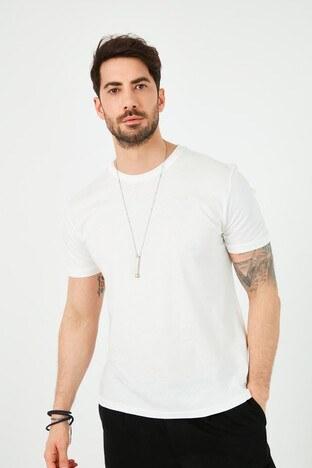 Lee Cooper Erkek T Shirt 212 LCM 242050 1107 KIRIK BEYAZ