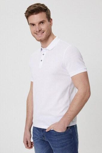 Lee Cooper T Shirt Erkek Polo 212 LCM 242024 1107 KIRIK BEYAZ