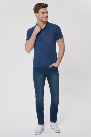 Lee Cooper T Shirt Erkek Polo 212 LCM 242041 2601 İNDİGO