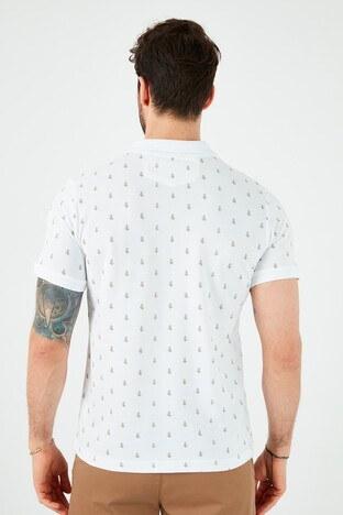 Lee Cooper % 100 Pamuklu T Shirt Erkek Polo 212 LCM 242043 1101 BEYAZ