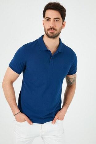 Lee Cooper T Shirt Erkek Polo 212 LCM 242044 2104 GECE MAVİ