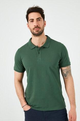 Lee Cooper T Shirt Erkek Polo 212 LCM 242044 2142 KOYU YEŞİL
