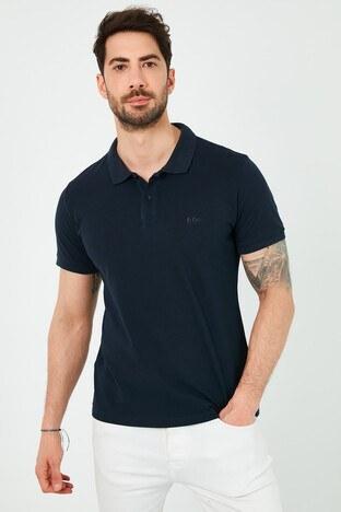 Lee Cooper T Shirt Erkek Polo 212 LCM 242044 2501 LACİVERT