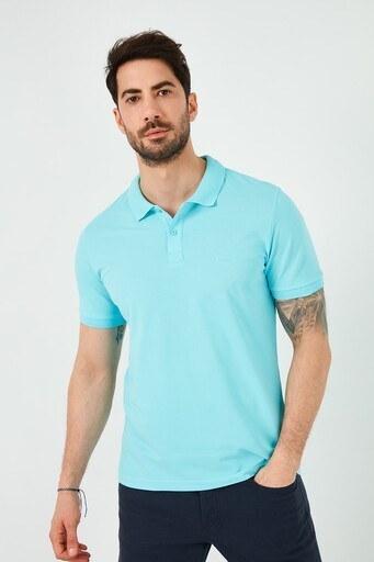 Lee Cooper T Shirt Erkek Polo 212 LCM 242044 2901 TURKUAZ