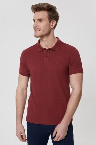 Lee Cooper T Shirt Erkek Polo 212 LCM 242044 4501 BORDO
