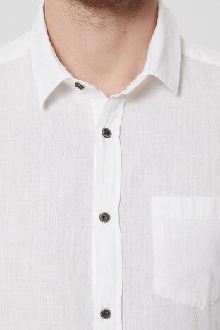 Lee Cooper Erkek Gömlek 212 LCM 241007 1108 KIRIK BEYAZ