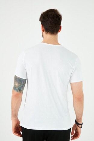 Lee Cooper Erkek T Shirt 212 LCM 242022 1101 BEYAZ