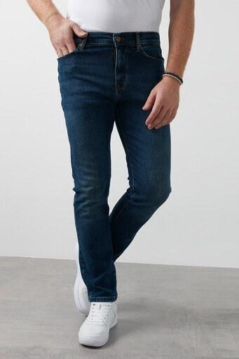 Lee Cooper Düz Kesim Pamuklu Harry Jeans Erkek Kot Pantolon 211 LCM 121002 DN1364 KOYU MAVİ