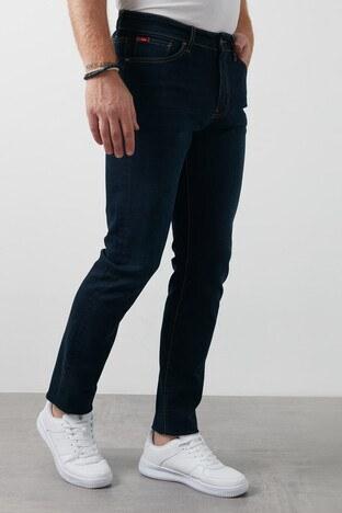 Lee Cooper Düz Kesim Pamuklu Harry Jeans Erkek Kot Pantolon 211 LCM 121007 DN0746 KOYU LACIVERT