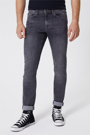 Lee Cooper - Lee Cooper Jeff Jeans Erkek Kot Pantolon 221 LCM 121056 DN1596 GRİ